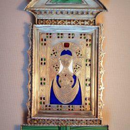 Plaque en argent Vierge à l'Enfant