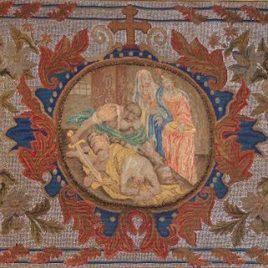 Tapisserie sur canevas, France fin XVIIe