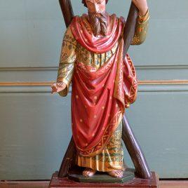 Saint André, bois sculpté, XIXe siècle
