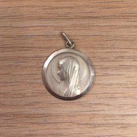 Médaille de la Vierge Marie au voile en argent
