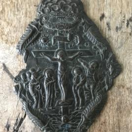 Plaque en bronze russe
